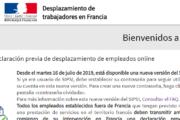 SIPSI | Declaración previa de desplazamiento de trabajadores en Francia
